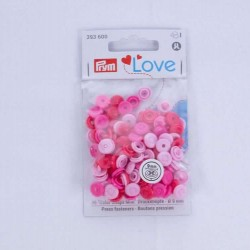 Prym Colorsnaps mini roze mix